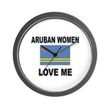 Aruban Women Love Me Wall Clock