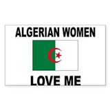 Algerian Women Love Me Rectangle Decal