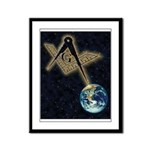 Symbol in the sky Framed Panel Print