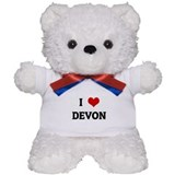 I Love DEVON Teddy Bear