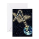 Masonic Sky Fire Greeting Card