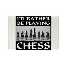 CHESS PLAYER Rectangle Magnet