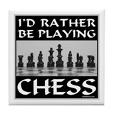 CHESS PLAYER Tile Coaster