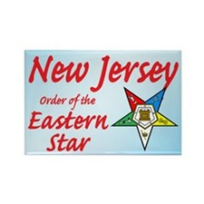 New Jersey Eastern Star Rectangle Magnet (10 pack)