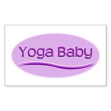 Yoga Baby Rectangle Decal