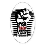 Fist in the Face FIGHTWEAR Oval Decal
