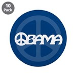 """Obama Peace 3.5"""" Button (10 pack)"""
