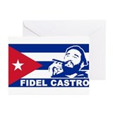 Fidel Castro Cuba Greeting Cards (Pk of 10)