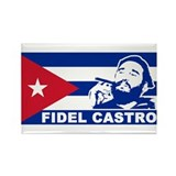 Fidel Castro Cuba Rectangle Magnet