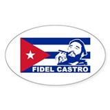 Fidel Castro Cuba Oval Decal