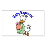 Baby Express (Girl) Rectangle Sticker 50 pk)