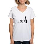 Windsurfer Evolution Women's V-Neck T-Shirt