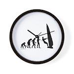 Windsurfer Evolution Wall Clock