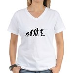 Water Ski Evolution Women's V-Neck T-Shirt