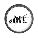 Water Ski Evolution Wall Clock
