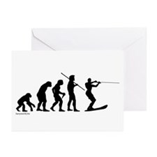 Water Ski Evolution Greeting Cards (Pk of 20)