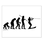 Water Ski Evolution Small Poster