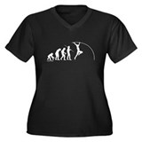 Pole Vault Evolution Women's Plus Size V-Neck Dark
