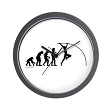 Pole Vault Evolution Wall Clock