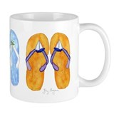 3 Pairs of Flip-Flops Coffee Mug