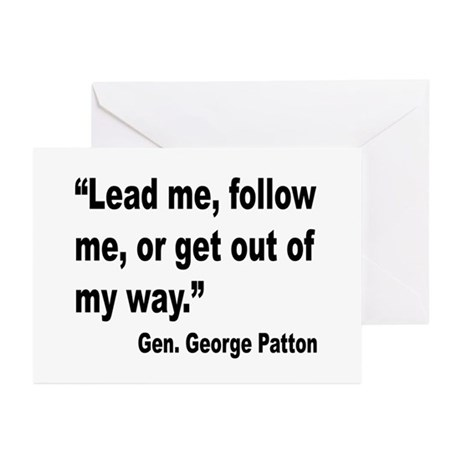 Patton Lead Follow Quote Greeting Cards (Pk of 10)