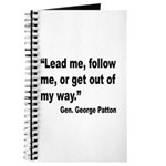 Patton Lead Follow Quote Journal