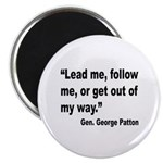 Patton Lead Follow Quote Magnet