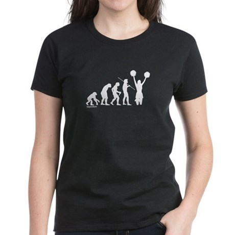 Cheerleader Evolution Women's Dark T-Shirt