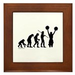Cheerleader Evolution Framed Tile