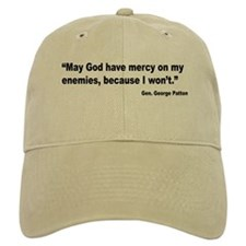 Patton God Have Mercy Quote Baseball Cap