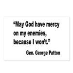 Patton God Have Mercy Quote Postcards (Package of