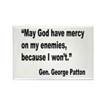 Patton God Have Mercy Quote Rectangle Magnet (10 p