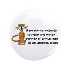 "Child-Free Kitty Cat 3.5"" Button (100 pack)"