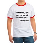 Patton Soldier Fight Quote Ringer T
