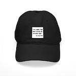 Patton Soldier Fight Quote Black Cap