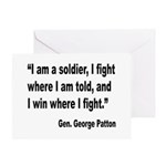 Patton Soldier Fight Quote Greeting Card