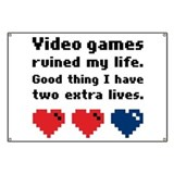 Video Games Ruined My Life. Banner