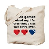 Video Games Ruined My Life. Tote Bag