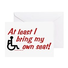 Own Seat Greeting Card