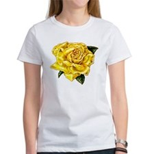Painted Yellow Rose Tee