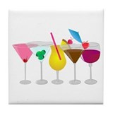 Mixed Drinks Tile Coaster