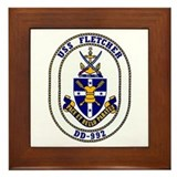 USS Fletcher DD-992 Framed Tile