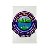 USS Greeneville SSN-772 Rectangle Magnet (10 pack)