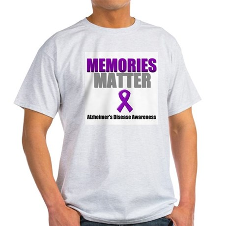 Alzheimers Memories Matter Light T-Shirt