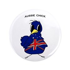 "Aussie Chick 3.5"" Button"
