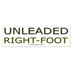 Unleaded Right Foot Bumper Sticker (50 pk)