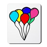 'Birthday Balloons' Mousepad