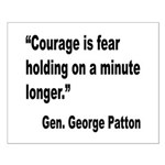 Patton Courage Fear Quote Small Poster