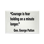 Patton Courage Fear Quote Rectangle Magnet (10 pac