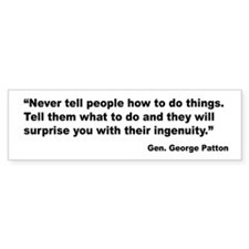 Patton Ingenuity Quote Bumper Bumper Sticker